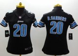 Cheap Nike Lions #20 Barry Sanders Black Alternate Women's Stitched NFL Limited Jersey