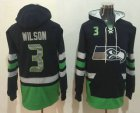 Cheap Men's Seattle Seahawks #3 Russell Wilson NEW Navy Blue Pocket Stitched NFL Pullover Hoodie