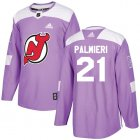 Cheap Adidas Devils #21 Kyle Palmieri Purple Authentic Fights Cancer Stitched Youth NHL Jersey