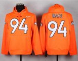 Cheap Denver Broncos #94 DeMarcus Ware Orange Pullover NFL Hoodie