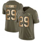 Cheap Nike Giants #29 Xavier McKinney Olive/Gold Youth Stitched NFL Limited 2017 Salute To Service Jersey