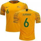 Cheap Australia #6 Jurman Home Soccer Country Jersey