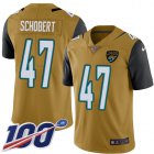 Cheap Nike Jaguars #47 Joe Schobert Gold Youth Stitched NFL Limited Rush 100th Season Jersey