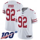 Cheap Nike 49ers #92 Kerry Hyder White Youth Stitched NFL 100th Season Vapor Untouchable Limited Jersey