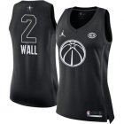 Cheap Nike Washington Wizards #2 John Wall Black Women's NBA Jordan Swingman 2018 All-Star Game Jersey