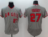 Cheap Angels of Anaheim #27 Mike Trout Grey Flexbase Authentic Collection Stitched Baseball Jersey