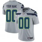 Cheap Nike Seattle Seahawks Customized Grey Alternate Stitched Vapor Untouchable Limited Youth NFL Jersey