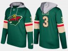 Cheap Wild #3 Charlie Coyle Green Name And Number Hoodie