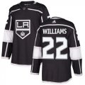 Cheap Adidas Kings #22 Tiger Williams Black Home Authentic Stitched NHL Jersey