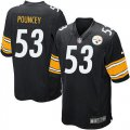 Cheap Nike Steelers #53 Maurkice Pouncey Black Team Color Youth Stitched NFL Elite Jersey
