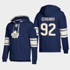 Cheap Toronto Maple Leafs #92 Igor Ozhiganov Blue adidas Lace-Up Pullover Hoodie