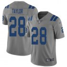 Cheap Nike Colts #28 Jonathan Taylor Gray Men's Stitched NFL Limited Inverted Legend Jersey