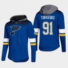 Cheap Blues #91 Vladimir Tarasenko Blue 2018 Pullover Platinum Hoodie