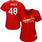 Cheap Cardinals #48 Harrison Bader Red Alternate Women's Stitched MLB Jersey