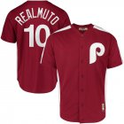 Cheap Philadelphia Phillies #10 JT Realmuto Majestic 1979 Saturday Night Special Cool Base Cooperstown Player Jersey Maroon