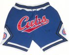 Cheap Chicago Cubs Shorts (Royal) JUST DON By Mitchell & Ness