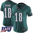 Cheap Nike Eagles #18 Jalen Reagor Green Team Color Women's Stitched NFL 100th Season Vapor Untouchable Limited Jersey