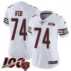 Cheap Nike Bears #74 Germain Ifedi White Women's Stitched NFL 100th Season Vapor Untouchable Limited Jersey