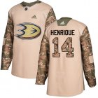 Cheap Adidas Ducks #14 Adam Henrique Camo Authentic 2017 Veterans Day Youth Stitched NHL Jersey