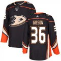Cheap Adidas Ducks #36 John Gibson Black Home Authentic Stitched NHL Jersey
