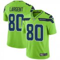 Cheap Nike Seahawks #80 Steve Largent Green Men's Stitched NFL Limited Rush Jersey