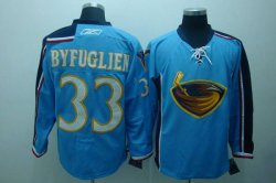 Cheap Thrashers #33 Dustin Byfuglien Embroidered Blue NHL Jersey
