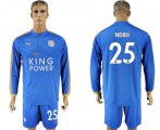 Cheap Leicester City #25 Ndidi Home Long Sleeves Soccer Club Jersey