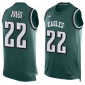 Cheap Nike Eagles #22 Sidney Jones Midnight Green Team Color Men's Stitched NFL Limited Tank Top Jersey