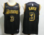 Cheap Men's Los Angeles Lakers #3 Anthony Davis 2019 Black Nike Swingman Wish Stitched NBA Jersey