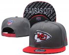 Cheap Chiefs Team Logo Gray Red Adjustable Hat TX