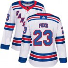 Cheap Adidas Rangers #23 Adam Foxs White Road Authentic Women's Stitched NHL Jersey