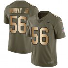 Cheap Nike Chargers #56 Kenneth Murray Jr Olive/Gold Youth Stitched NFL Limited 2017 Salute To Service Jersey