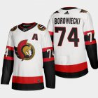 Cheap Ottawa Senators #74 Mark Borowiecki Men's Adidas 2020-21 Authentic Player Away Stitched NHL Jersey White