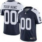 Cheap Nike Dallas Cowboys Customized Navy Blue Thanksgiving Stitched Vapor Untouchable Limited Throwback Youth NFL Jersey