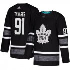 Cheap Adidas Maple Leafs #91 John Tavares Black Authentic 2019 All-Star Stitched Youth NHL Jersey