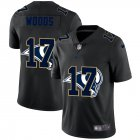 Cheap Los Angeles Rams #17 Robert Woods Men's Nike Team Logo Dual Overlap Limited NFL Jersey Black