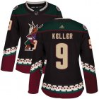 Cheap Adidas Coyotes #9 Clayton Keller Black Alternate Authentic Women's Stitched NHL Jersey
