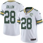Cheap Nike Packers #28 AJ Dillon White Youth 100th Season Stitched NFL Vapor Untouchable Limited Jersey