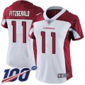 Cheap Nike Cardinals #11 Larry Fitzgerald White Women's Stitched NFL 100th Season Vapor Limited Jersey