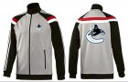 Cheap NHL Vancouver Canucks Zip Jackets Grey