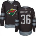 Cheap Adidas Wild #3 Charlie Coyle Black 1917-2017 100th Anniversary Stitched NHL Jersey