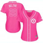 Cheap Rangers #29 Adrian Beltre Pink Fashion Women's Stitched MLB Jersey