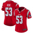 Cheap Nike Patriots #53 Josh Uche Red Women's Stitched NFL Limited Inverted Legend Jersey