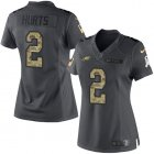 Cheap Nike Eagles #2 Jalen Hurts Black Women's Stitched NFL Limited 2016 Salute to Service Jersey
