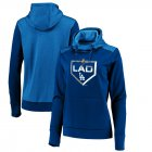 Cheap Los Angeles Dodgers Majestic Women's 2019 Postseason Dugout Authentic Pullover Hoodie Royal