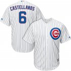 Cheap Cubs #6 Nicholas Castellanos White Strip New Cool Base Stitched MLB Jersey