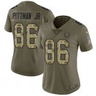 Cheap Nike Colts #86 Michael Pittman Jr. Olive/Camo Women's Stitched NFL Limited 2017 Salute To Service Jersey