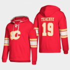 Cheap Calgary Flames #19 Matthew Tkachuk Red adidas Lace-Up Pullover Hoodie
