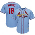 Cheap Cardinals #18 Carlos Martinez Light Blue Cool Base Stitched Youth MLB Jersey