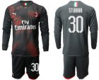Cheap AC Milan #30 Storari Third Long Sleeves Soccer Club Jersey